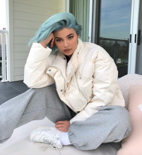 kylie jenner blue hair 2018