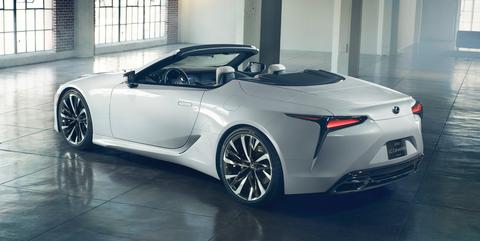 lexus lc convertible concept revealed  detroit  drop top lexus lc