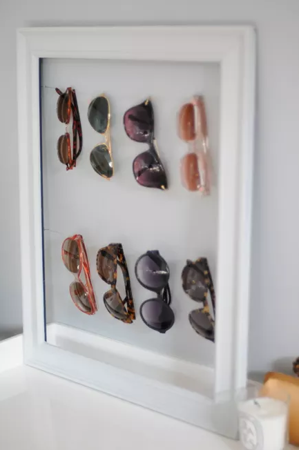 Sunglasses storage diy
