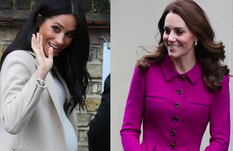 Meghan Markle and Kate Middleton Had Twinning Royal Engagements Today