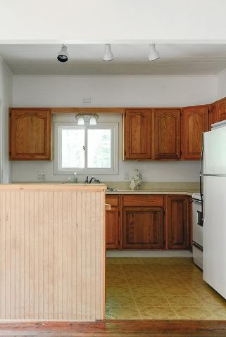 before kitchen vinyl flooring