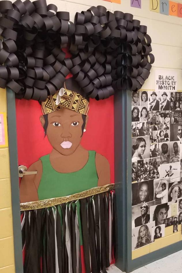 black history month door decoration