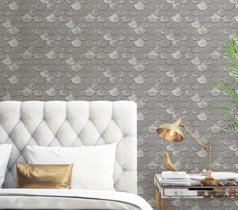 Wallpaper, Wall, Room, Yellow, Tile, Pattern, Living room, Interior design, Interior design, Furniture,