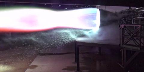 raptor spacex test engine