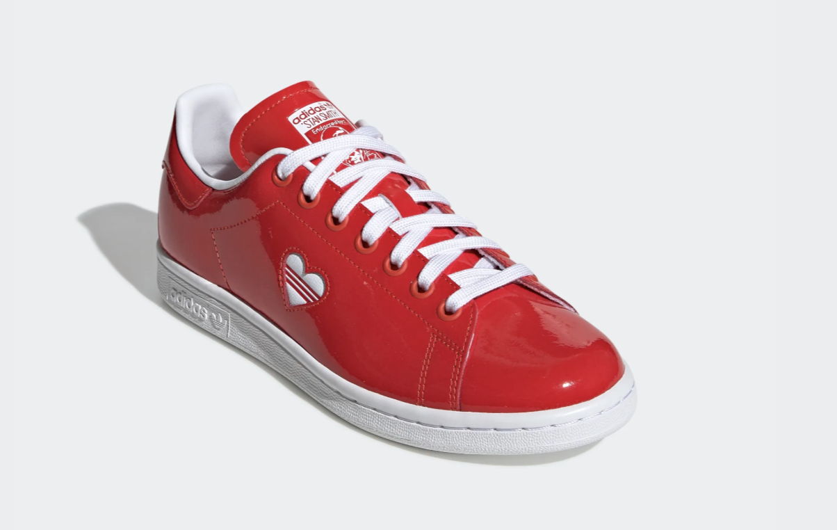adidas stan smith valentine rouge