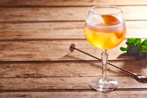 bourbon, prosecco and aperol spritz