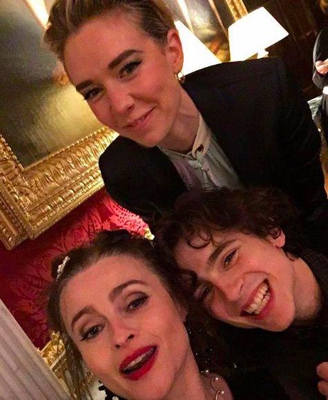 Vanessa Kirby, Timothee Chalamet and Helena Bonham Carter