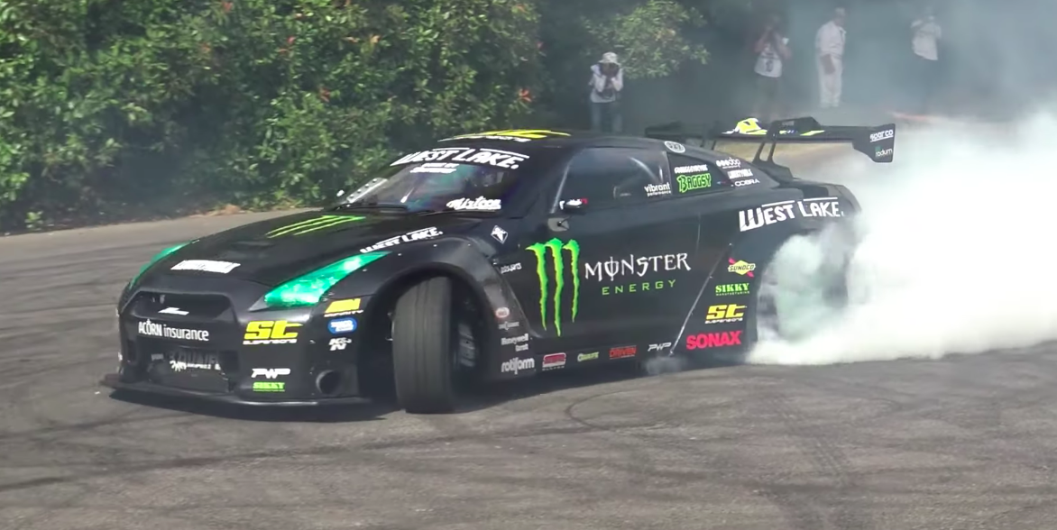 Listen to This 1200-HP LS-Swapped Nissan GT-R Drift Car Get Sideways