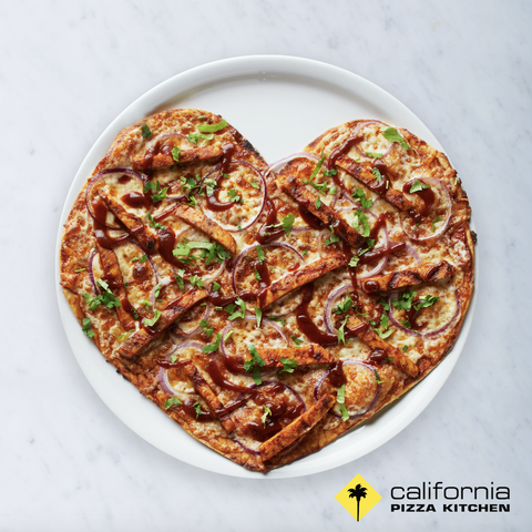 CPK heart pizza