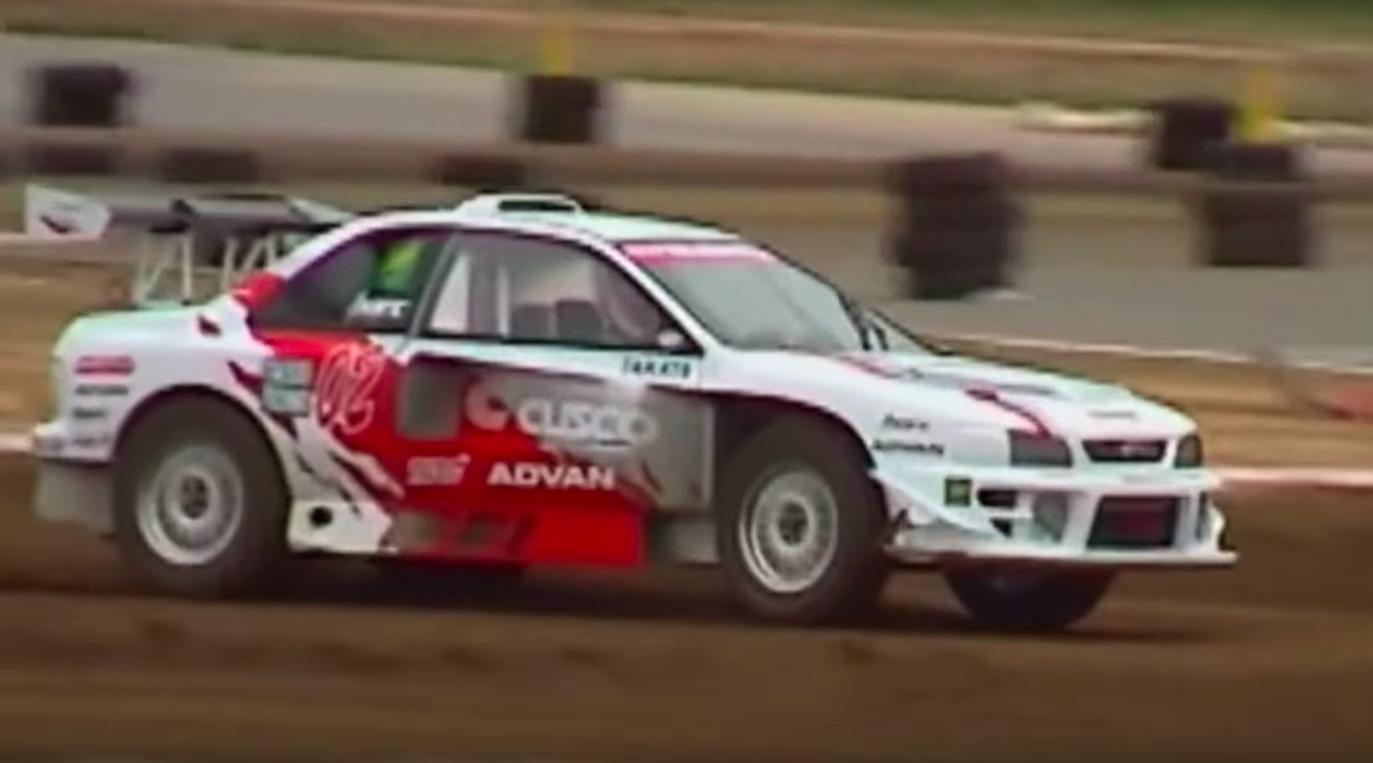 Watch a Mid-Engine Flat-Six Impreza Tear Up a Rallycross Course