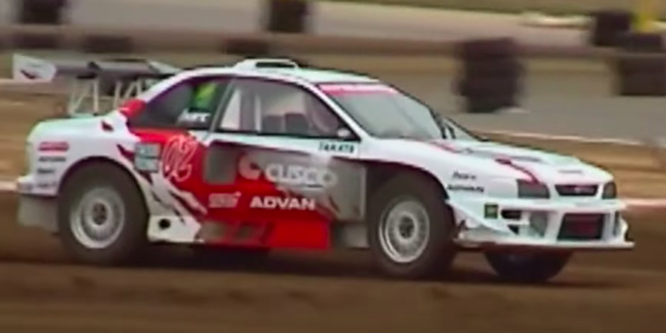 Watch a Mid-Engine Flat-Six Impreza Tear Up a Rallycross Course