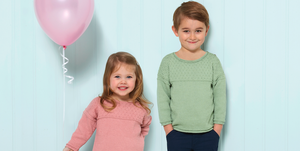 Children's sweatshirt knitting pattern photo