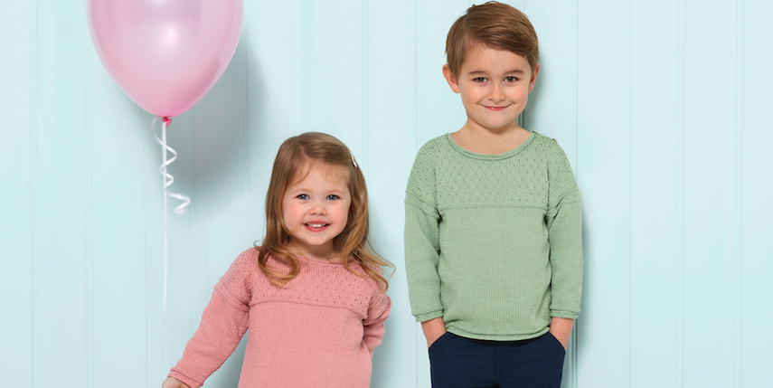 Knit a smart children's sweater for spring