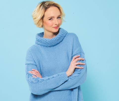Oversized sweatshirt knitting pattern photo