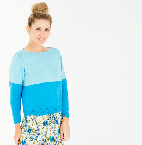 Knit a colour block jumper to brighten up your wardrobe for spring