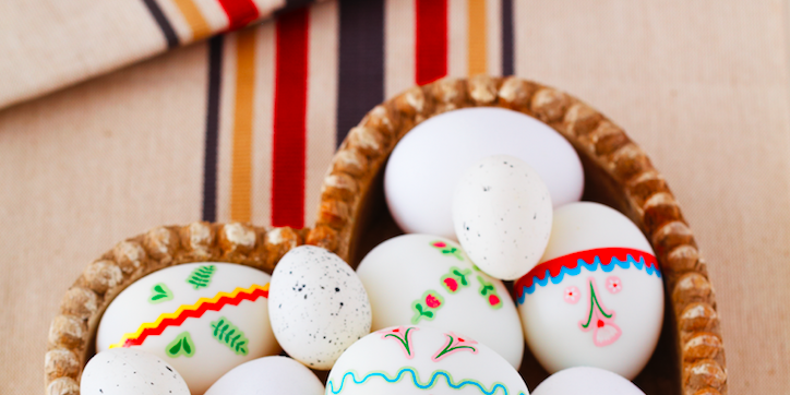 Easter egg decorating ideas photo