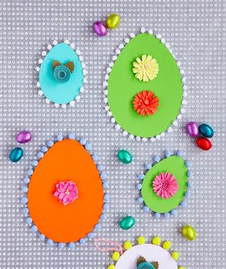 Handmade Easter Cards How To Make A Cute Pom Pom Easter Egg Card