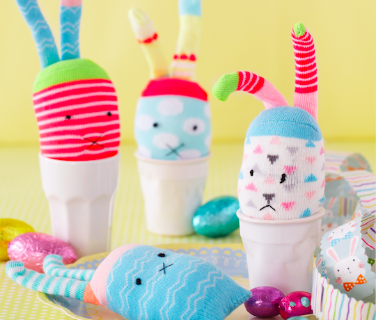How to make an Easter sock bunny