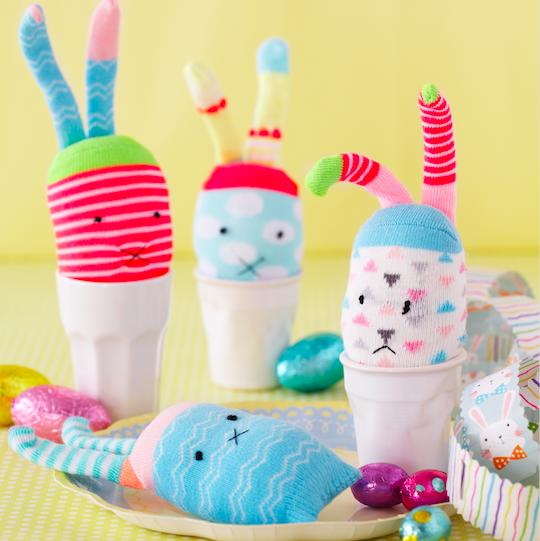 Easter sock bunny