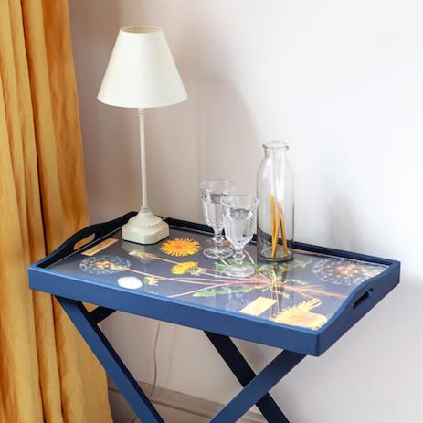 Decoupage table photo
