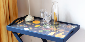 Decoupage table photo