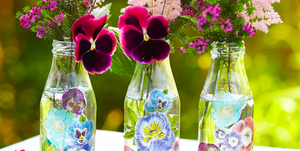 Mother's Day craftDecoupage bottles photo