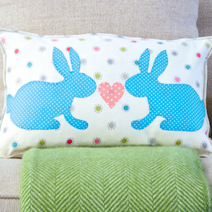 How to sew an Easter bunny cushion
