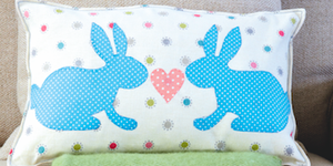 Easter bunny cushion