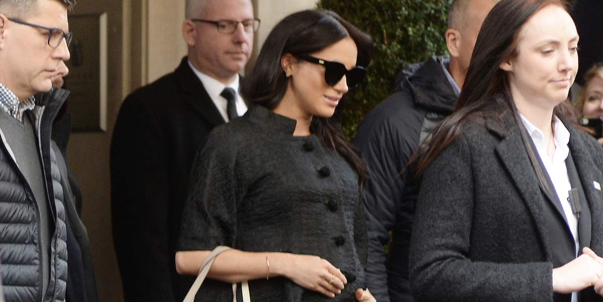 Meghan Markle Wears All Black Ahead of Her Baby Shower in NYC