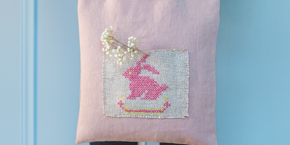 Easter bunny bag-Cross stitch pattern