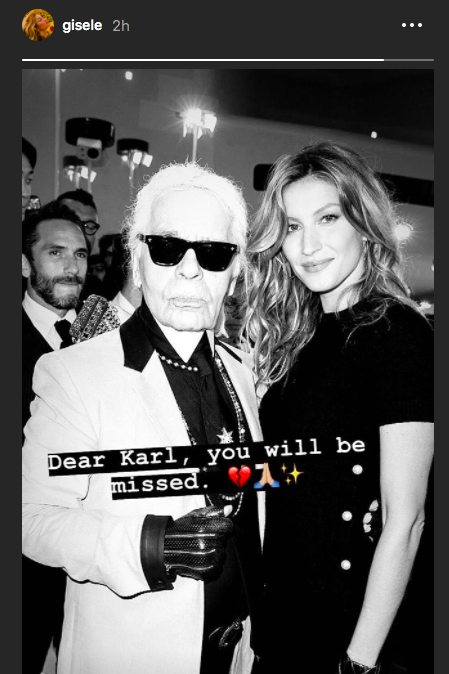 998c7378d6874 Celebrity and Models React to Karl Lagerfeld s Death - The Fashion ...
