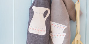 DIY gifts: Embroidered tea towels