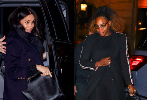 Serena Williams Joins Meghan Markle for Dinner and Baby Shower Celebrations in New York