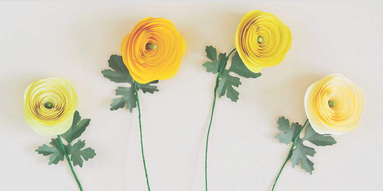 How to make paper flowers to brighten up that vase all year round