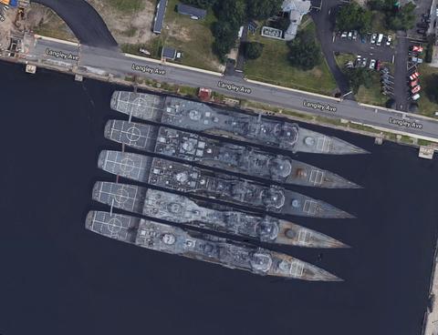 The U.S. Navy destroyers