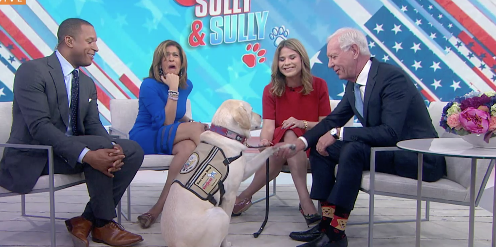 Service Dog Sully Fulfills George Bush's Wish by Meeting Captain Sully Sullenberger