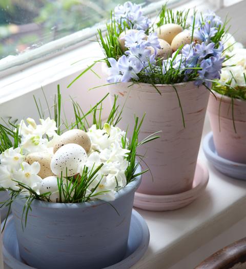 Flower pot decoration-Easter egg pots