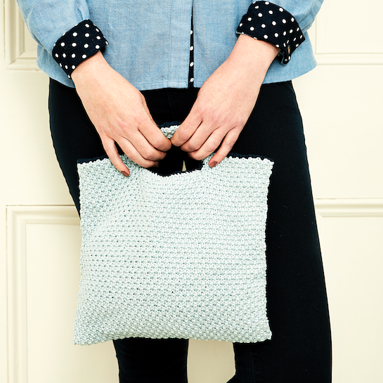 How to knit a small bag that's perfect for spring