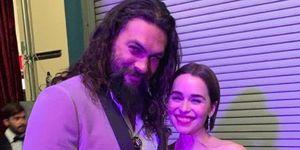 Jason Momoa and Emilia Clarke had a Game Of Thrones reunion at the Oscars