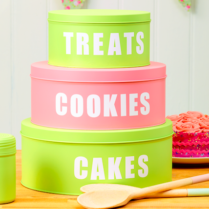 How to transform old sweet tins into kitchen storage containers with just a lick of paint