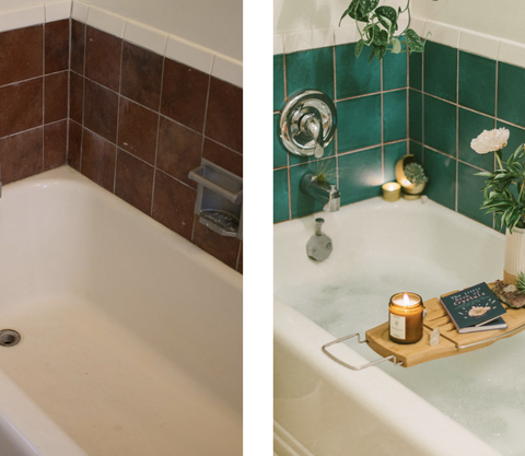 Peel And Stick Tiles Are The Easiest Fix For Ugly Rental Bathrooms