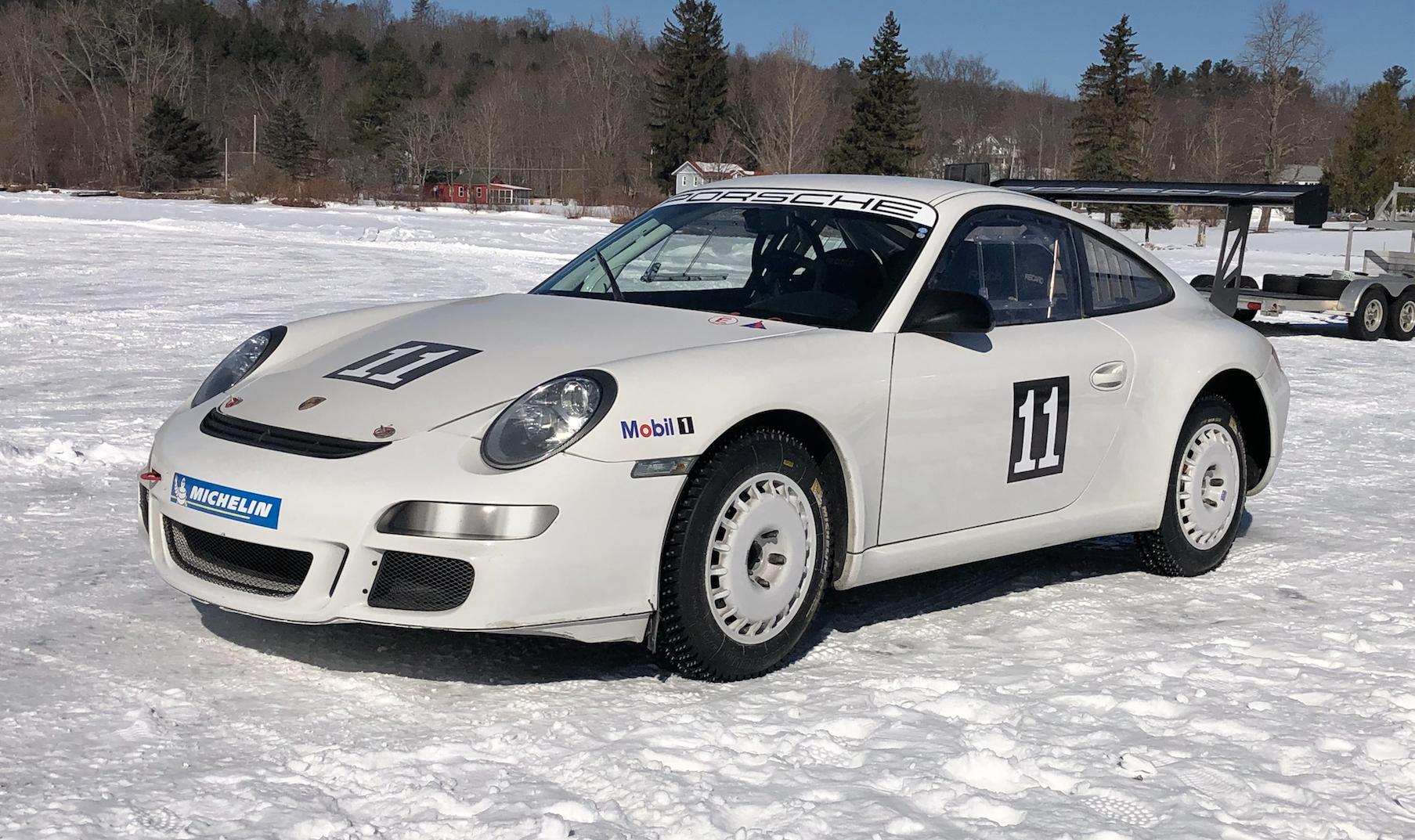 A Porsche 911 GT3 Cup Makes a Surprisingly Good Ice-Racer