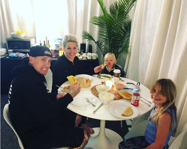 Pink Expertly Claps Back at a Mommy-Shamer Who Criticized Her Family Instagram Photo