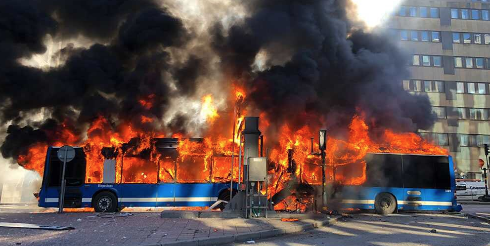 Bus Powered By Natural Gas Explodes After Colliding With