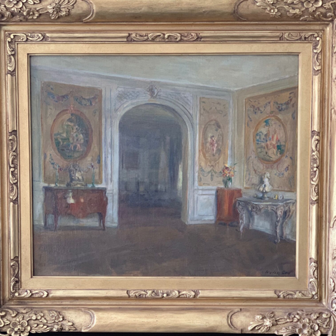 Picture frame, Painting, Holy places, Visual arts, Antique, Art, Carving, Stock photography, Room, Napoleon iii style,