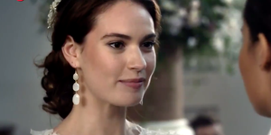 Lily James in Four Weddings remake