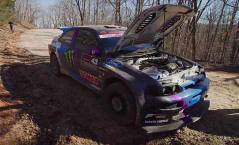 Ken Block's Escort Cosworth Engine Blew Up Just Three Stages Into its First Rally