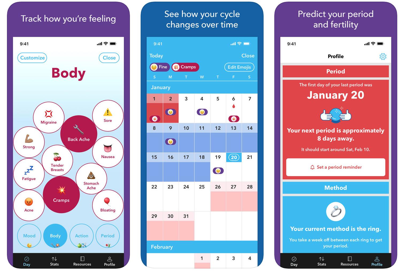best period tracker apps - spot on