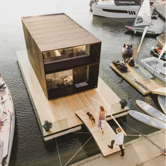 This Tiny House Can Be Built in One Day—And it Floats on Water