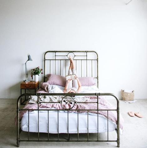 Bed, Iron, Furniture, Bed frame, Room, Bedroom, Metal, Interior design, Bed sheet, Bedding,